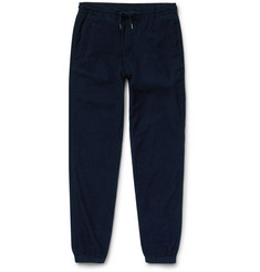 Folk - Tapered Drawcord Cotton-Corduroy Trousers