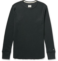 Rag & bone Standard Issue Waffle-Knit Cotton T-Shirt