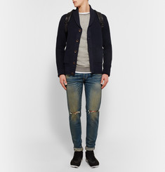 Rag & bone Avery Shawl-Collar Textured-Knit Cotton Cardigan