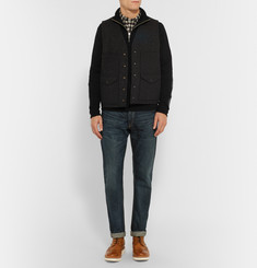 Rag & bone Nathan Merino Wool Half-Zip Sweater
