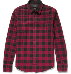Rag & bone Slim-Fit Plaid Cotton-Flannel Shirt