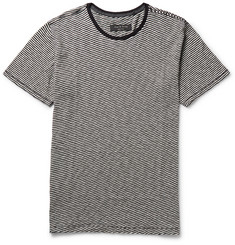 Rag & bone - Rupert Striped Brushed-Cotton T-Shirt