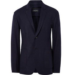 Rag & bone - Midnight-Blue Scott Slim-Fit Unstructured Wool-Felt Blazer