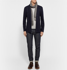 Rag & bone Midnight-Blue Scott Slim-Fit Unstructured Wool-Felt Blazer