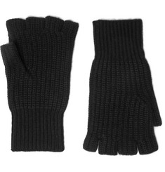 Rag & bone Kaden Fingerless Ribbed Cashmere Gloves
