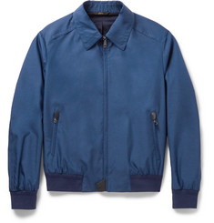 Brioni Silk and Wool-Blend Bomber Jacket