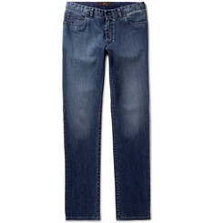Brioni Meribel Slim-Fit Washed Stretch-Denim Jeans