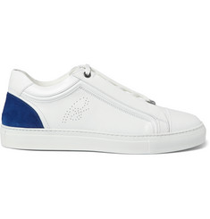 Brioni James Leather and Suede Sneakers