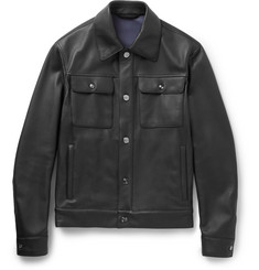 Brioni - Full-Grain Leather Jacket