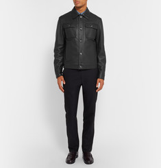 Brioni Full-Grain Leather Jacket