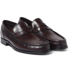 Brioni Leopold Polished-Leather Loafers