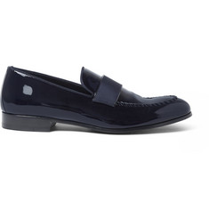 Brioni David Patent-Leather Loafers