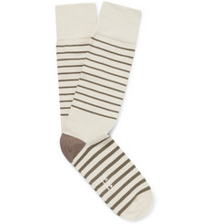 Paul Smith Shoes & Accessories Striped Stretch Cotton-Blend Socks