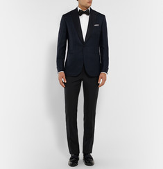 Brioni Midnight-Blue Wool Tuxedo Trousers