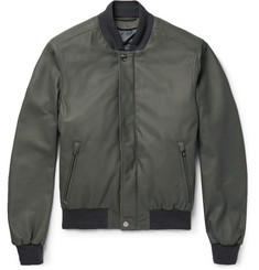 Brioni Leather Bomber Jacket with Detachable Shell Gilet