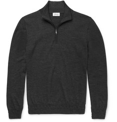 Brioni Slim-Fit Wool Half-Zip Sweater