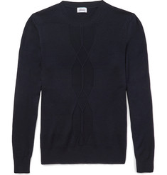 Brioni Ribbed Wool, Cashmere and Silk-Blend Sweater