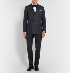 Lutwyche Navy Silk and Wool-Blend Dinner Jacket