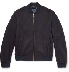 Paul Smith London Wool and Cashmere-Blend Bomber Jacket