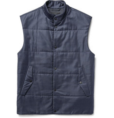 Paul Smith London Quilted Checked Wool Gilet