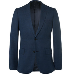 Paul Smith London Navy Soho Slim-Flit Wool-Hopsack Blazer