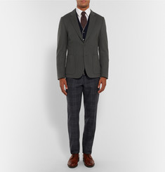 Paul Smith London Khaki Soho Slim-Fit Wool and Cashmere-Blend Blazer