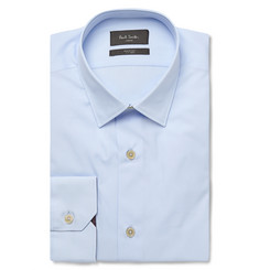 Paul Smith London Blue Soho Slim-Fit Cotton-Poplin Shirt