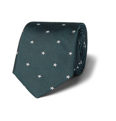 Paul Smith London Star-Print Silk-Twill Tie