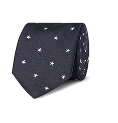 Paul Smith London Slim Star-Patterened Silk-Twill Tie