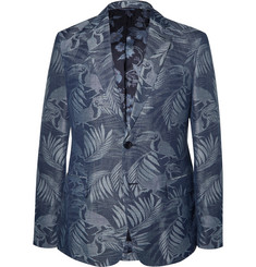 Etro - Slim-Fit Toucan-Jacquard Linen and Cotton-Blend Blazer