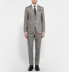 Etro Prince of Wales Checked Silk Suit Jacket