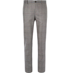Etro - Slim-Fit Prince of Wales Checked Silk Suit Trousers