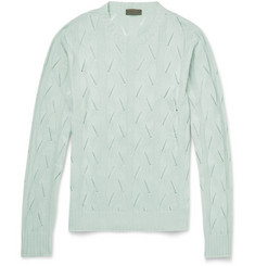 Etro Slim-Fit Knitted Silk Sweater