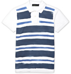 Etro Slim-Fit Painted Cotton-Piqué Polo Shirt