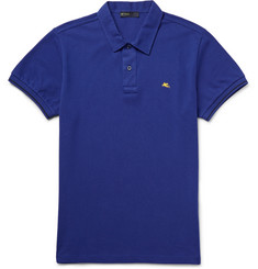 Etro - Slim-Fit Paisley-Undercollar Cotton-Piqué Polo Shirt