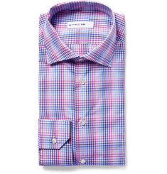 Etro Mercurio Slim-Fit Checked Cotton-Poplin Shirt