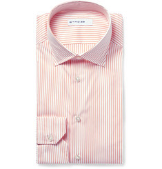 Etro Mercurio Slim-Fit Semi-Cutaway Stretch Cotton-Blend Poplin Shirt
