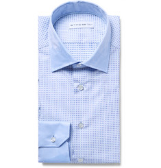 Etro Blue Mercurio Slim-Fit Cotton-Jacquard Shirt