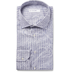 Etro - Mercurio Slim-Fit Semi-Cutaway Cotton-Jacquard Shirt