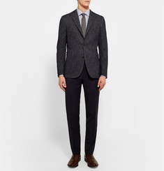 Etro Mercurio Slim-Fit Semi-Cutaway Cotton-Jacquard Shirt