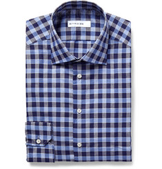 Etro Mercurio Slim-Fit Checked Linen and Cotton-Blend Shirt