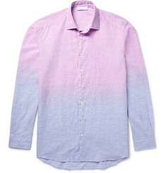 Etro Dégradé Linen and Cotton-Blend Shirt