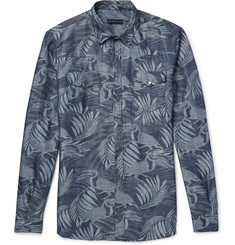 Etro - Toucan-Jacquard Linen And Cotton-Blend Shirt