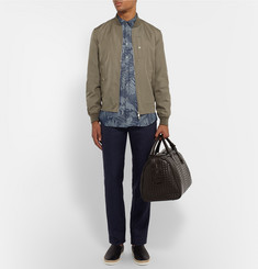 Etro Toucan-Jacquard Linen And Cotton-Blend Shirt