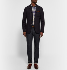 Etro Mercurio Slim-Fit Checked Linen Shirt