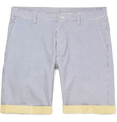 Etro Slim-Fit Striped Cotton Shorts