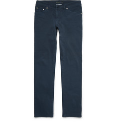 Etro Paisley-Lined Stretch-Denim Jeans