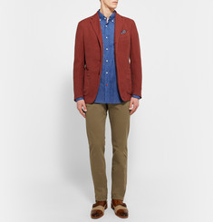 Etro Slim-Fit Stretch Cotton-Twill Trousers