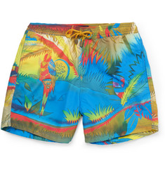 Etro - Printed Mid-Length Swim Shorts