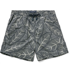 Etro - Fern-Print Mid-Length Swim Shorts